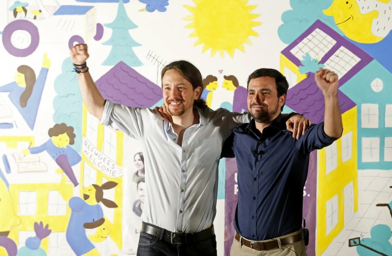 Madrid, l'avvio della nuova campagna elettorale di Unidos Podemos con Pablo Iglesias e Alberto Garzon