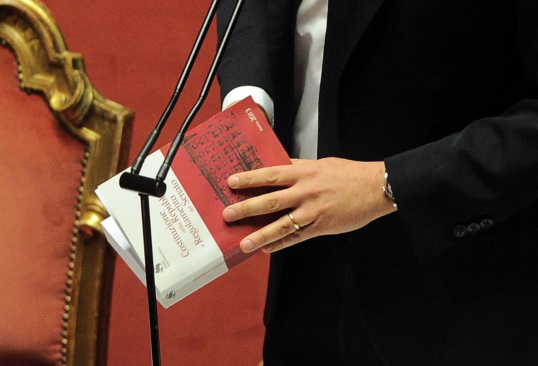 Matteo Renzi in senato