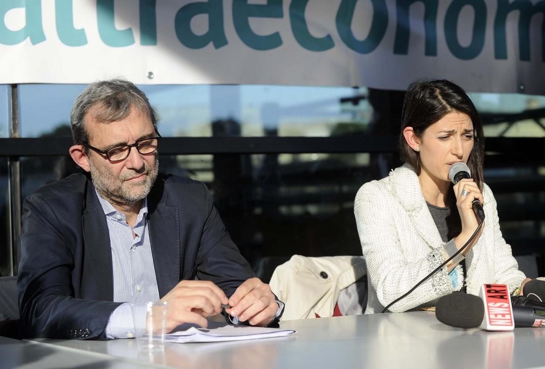 Bobo Giachetti e Virginia Raggi, sfidanti al ballottaggio del 19 giugno
