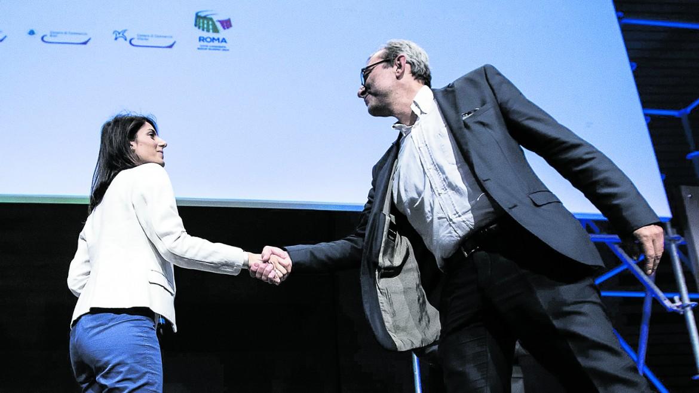 Virginia Raggi e Roberto Giachetti