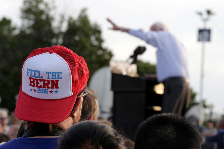 Comizio di Sanders a Washington durante le ultime primarie democratiche