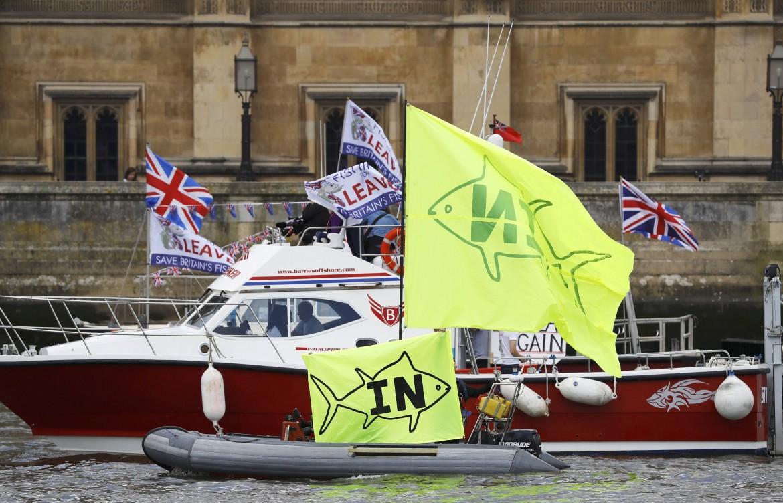 La campagna sul referendum sulle acque del Tamigi