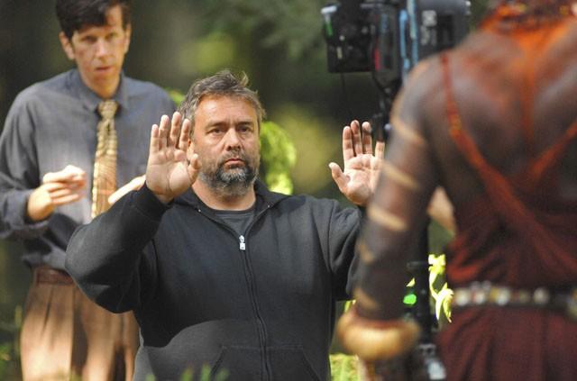 Luc Besson sul set