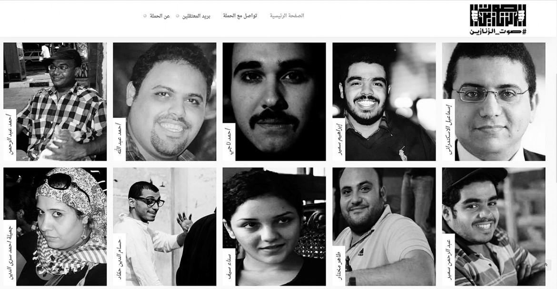 I volti di alcuni detenuti politici raccolti dalla campagna