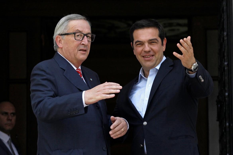 Juncker e Tsipras nel 2016