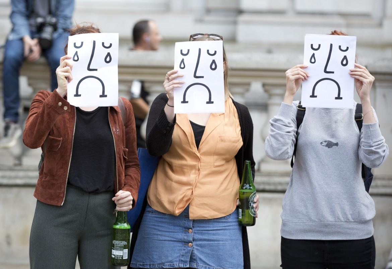 Protesta degli europeisti a Londra prima del referendum che ha sancito la Brexit