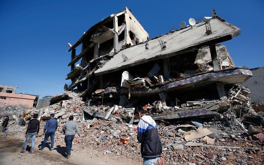 Il centro di Cizre dopo i raid di Ankara