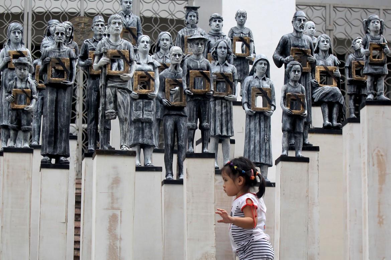 Installazione artistica a Quezon City, Filippine