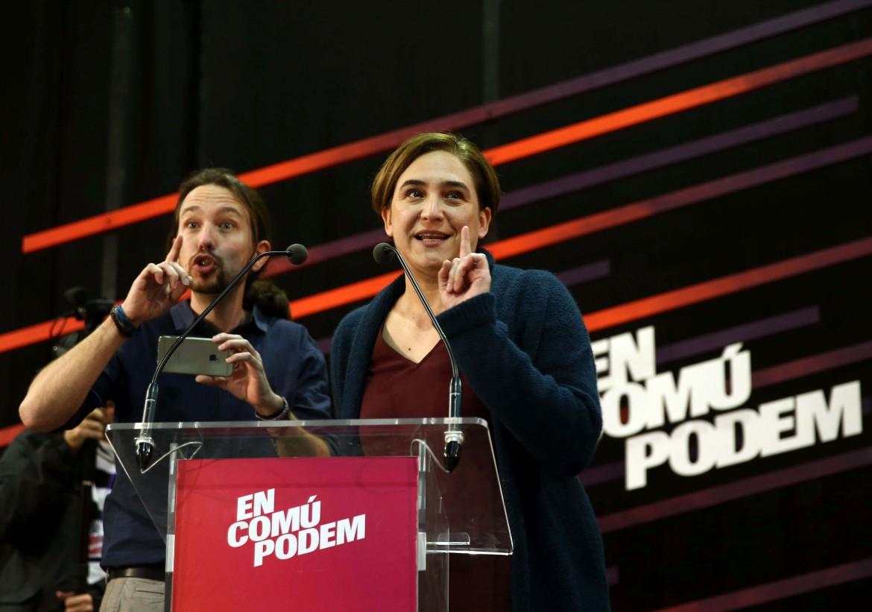 Ada Colau e Pablo Iglesias