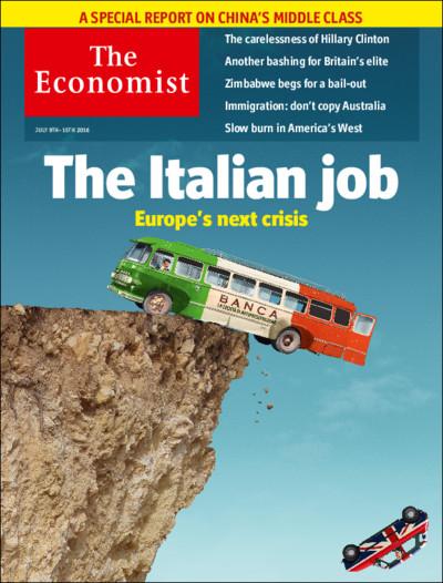 La copertina dell'ultimo numero dell'Economist