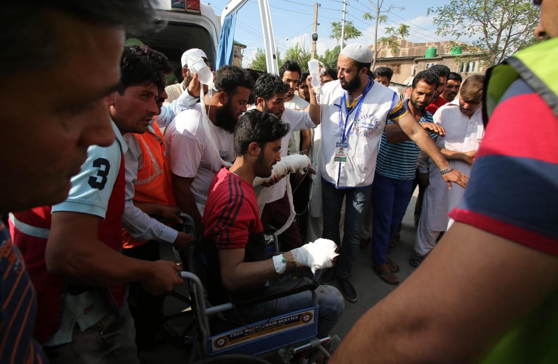 Le proteste in Kashmir