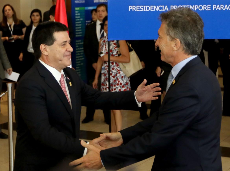I presidenti di Paraguay e Argentina
