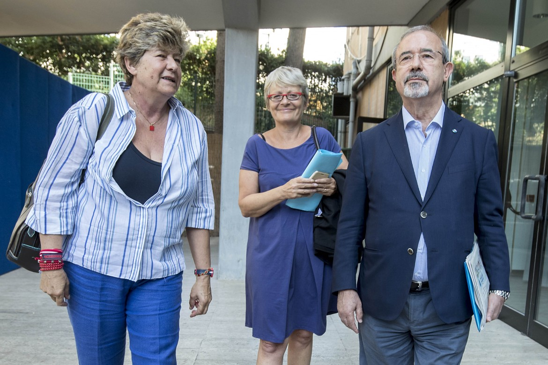 Susanna Camusso (Cgil), Anna Maria Furlan (Cisl), Carmelo Barbagallo (Uil)