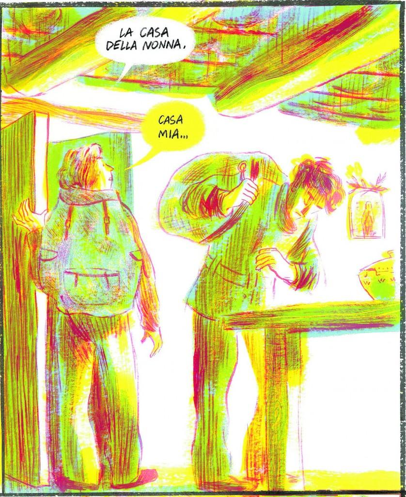 una immagine dalla graphic novel di Lorena Canottiere