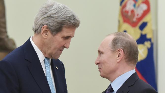 Kerry e Putin ieri a Mosca