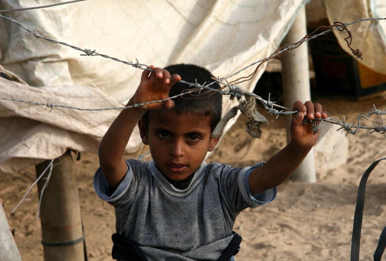 Un bambino siriano a al-Hasakah