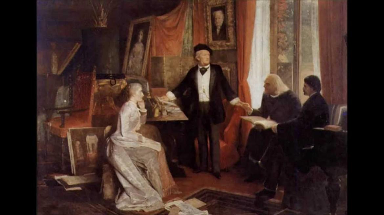 Richard e Cosima Wagner con Franz Liszt