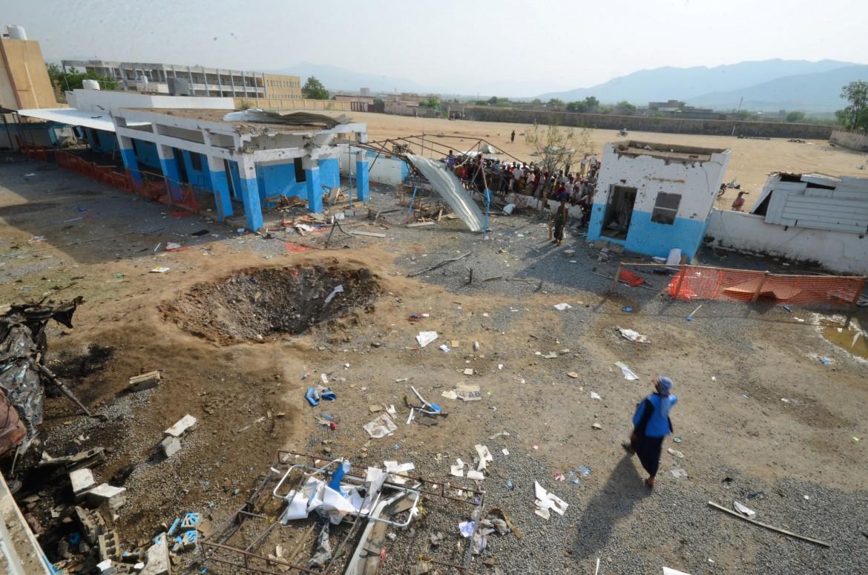 L'ospedale di Medici senza Frontiere nella provincia di Hajja colpito ieri dalle bombe saudite