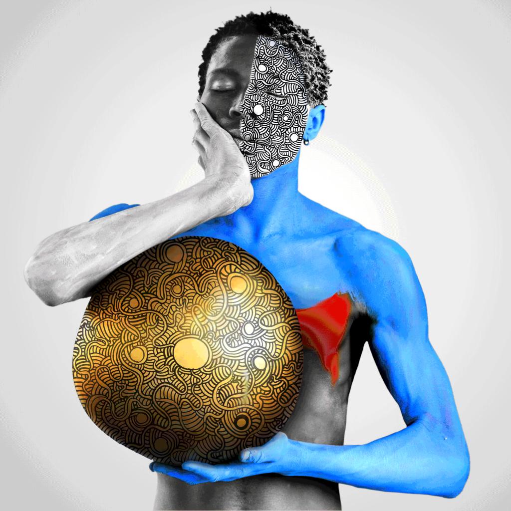 Un'opera di Aida Muluneh