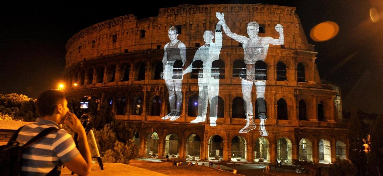 Una promozione sul Colosseo della Olimpiadi a Roma, poi bocciata dalla Giunta M5S