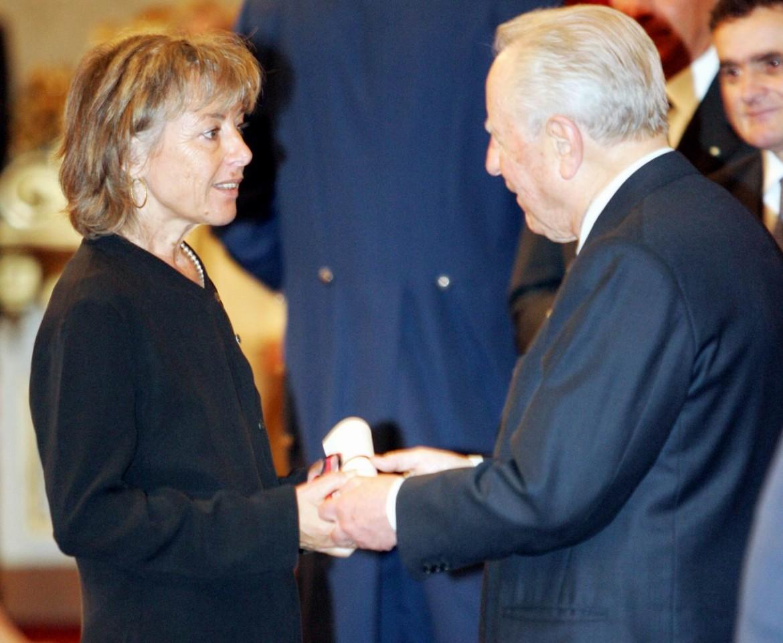 Giuliana Sgrena ricevuta dal presidente della Repubblica Carlo Azeglio Ciampi