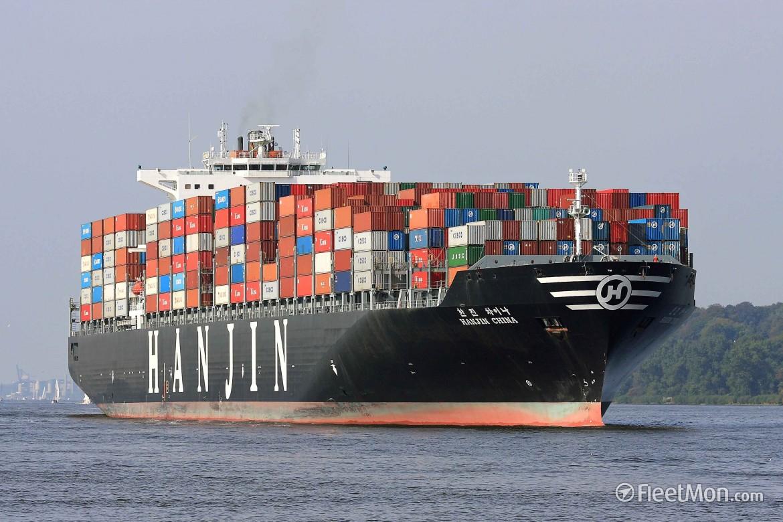Una nave container della Hanjin