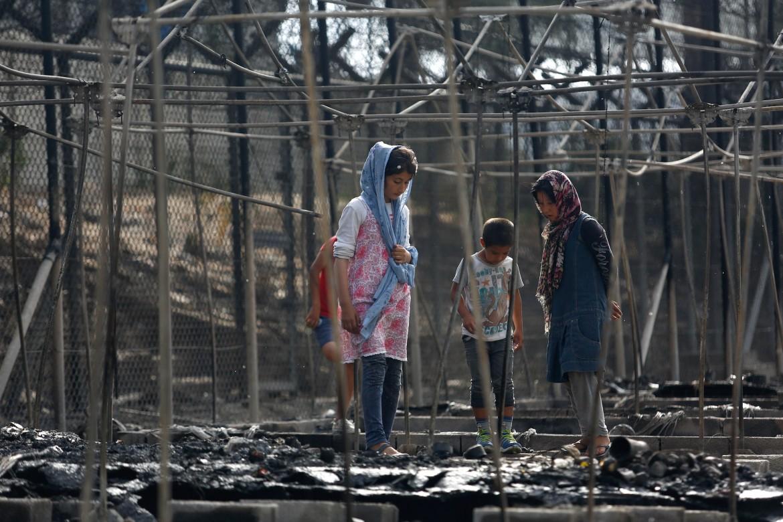 Il campo profughi di Lesbo