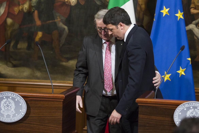 Jean-Claude Juncker e Matteo Renzi