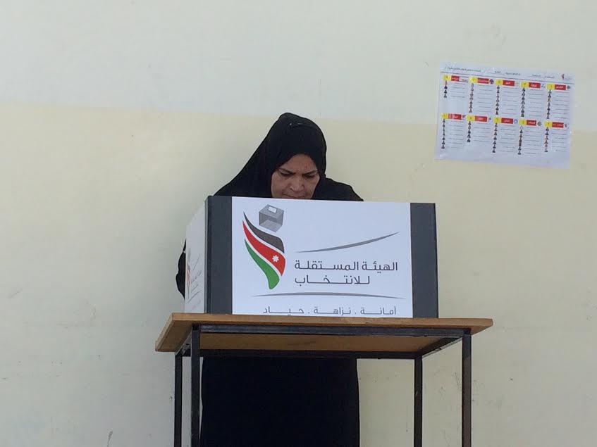 Amman, 20 settembre. Un seggio elettorale nella scuola