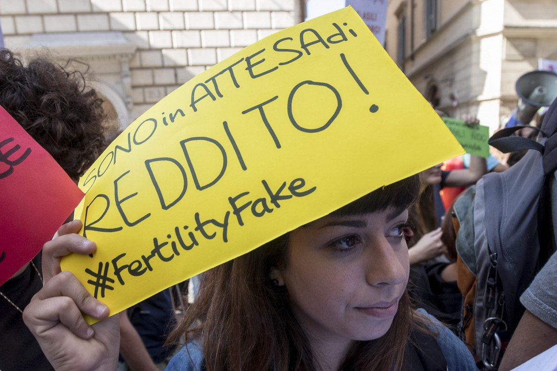 Roma, flash mob contro il Fertility Day