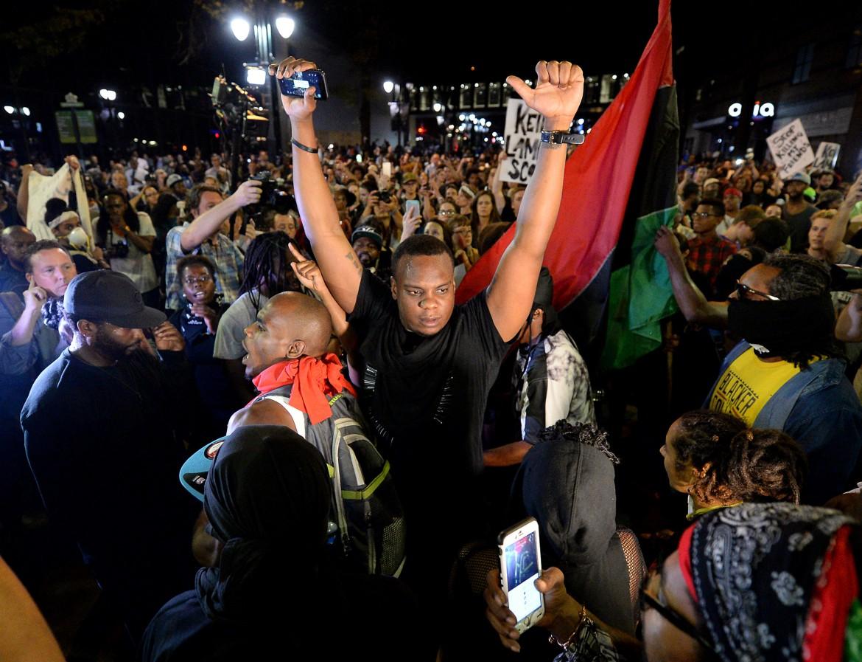 Protesta per le strade di Charlotte, Usa