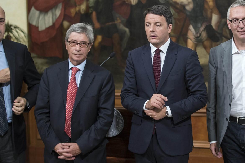 Il commissario alla ricostruzione Errani e Matteo Renzi