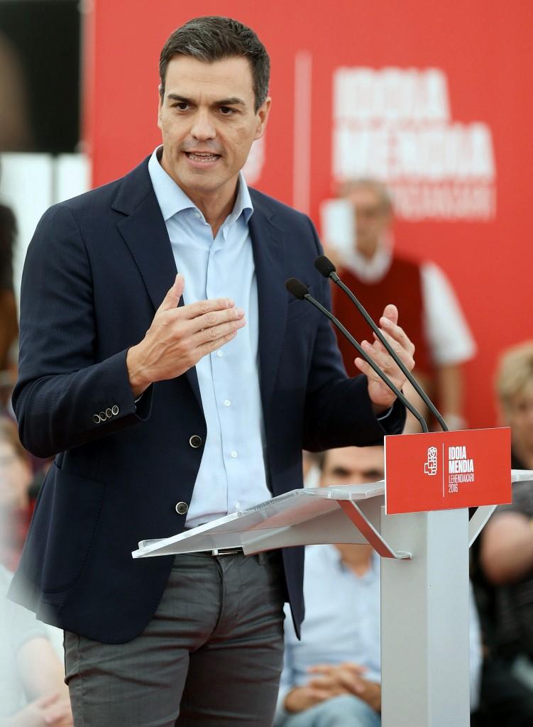 Il leader del Psoe Pedro Sánchez