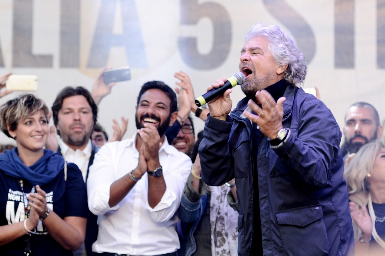 Beppe Grillo a Palermo