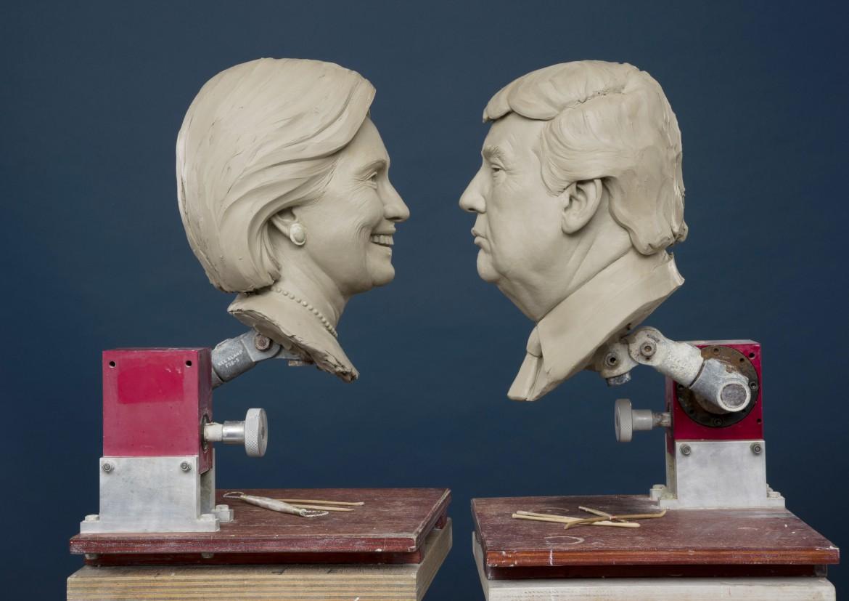 Museo delle cere Madame Tussauds: Clinton e Trump