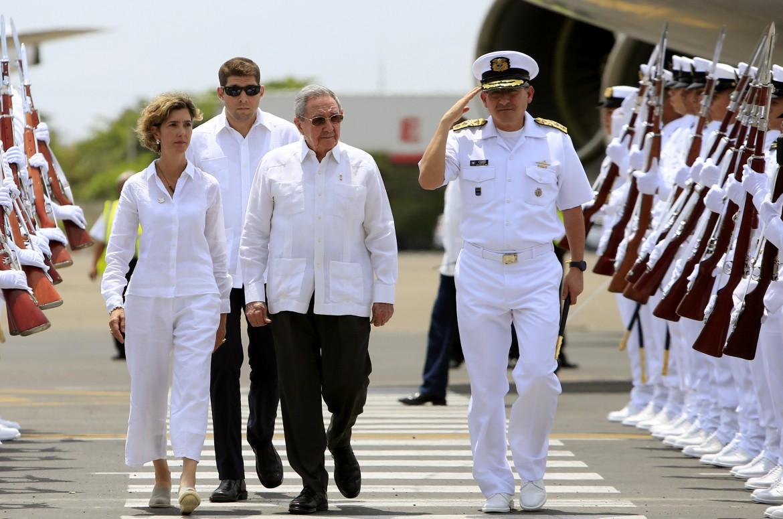 Cartagena, l'arrivo di Raul Castro al vertice