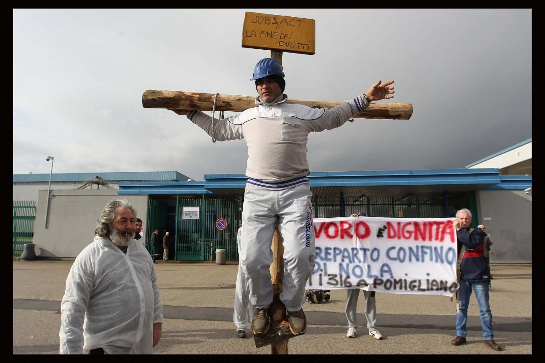 Proteste degli operai di Pomigliano