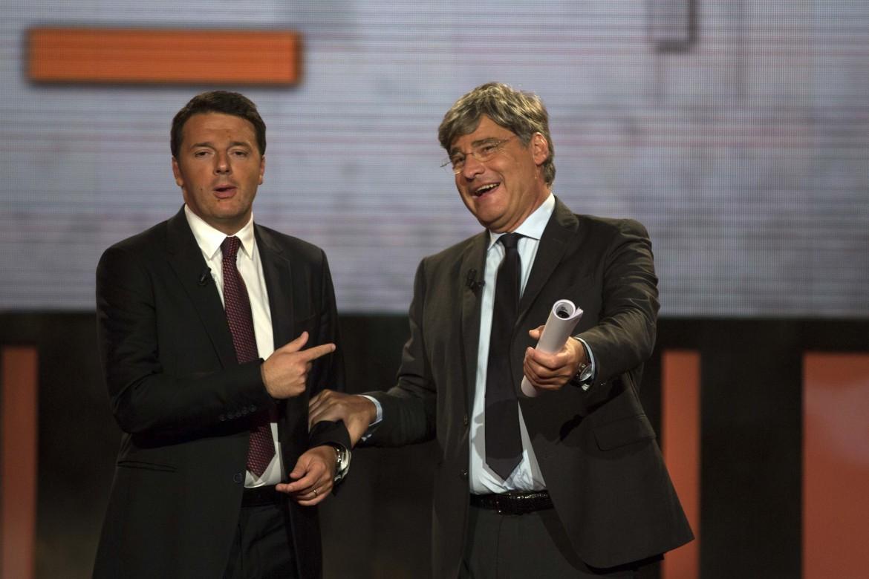 Matteo Renzi ospite del programma Quinta Colonna di Paolo del Debbio