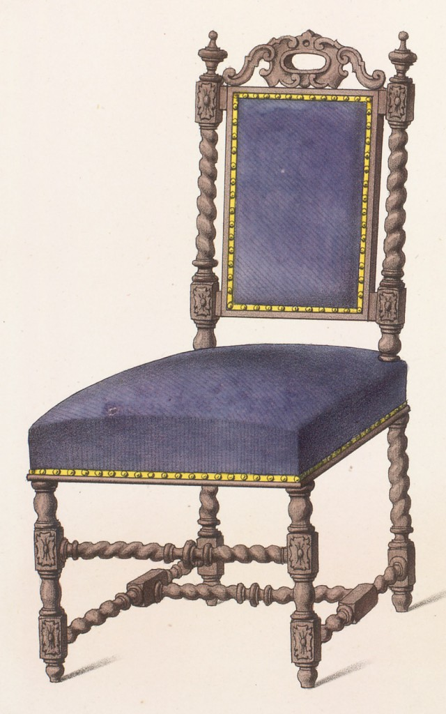 Désiré Guilmard, sedia  in stile Luigi XIII,1843:  sotto Luigi XIII fu fondata dal cardinale Richelieu l'Accademia francese
