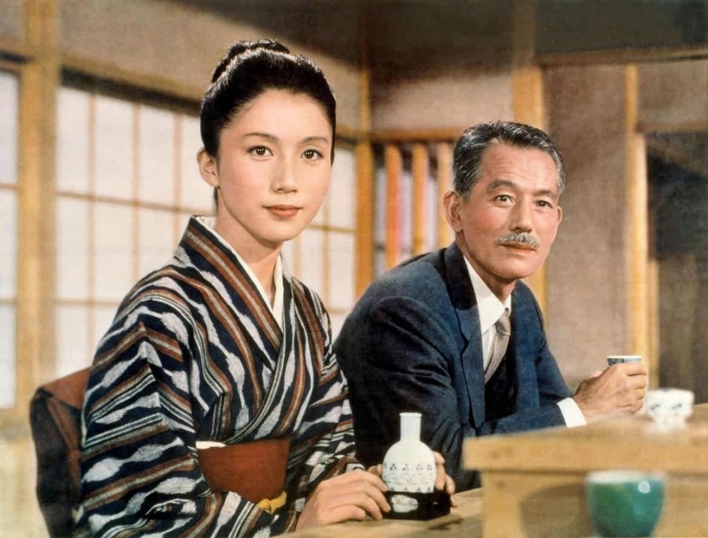 Ozu Yasujiro sul set de «Il sapore del riso al tè verde», 1952