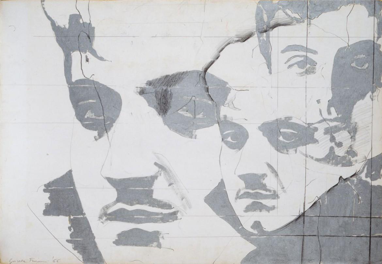 Giosetta Fioroni , «Ritratto di Goffredo Parise», 1966, Roma, proprietà dell'artista