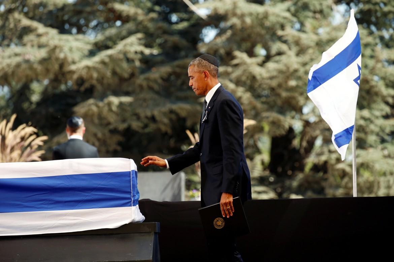 Obama ai funerali di Shimon Peres