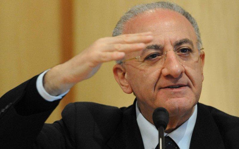 Il presidente della regione Campania Enzo De Luca