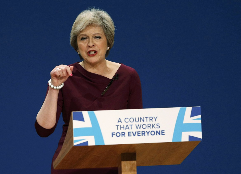La prima ministra britannica Theresa May