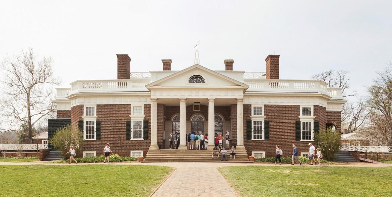 L'edificio costruito da Thomas Jefferson  a Monticello, Virginia, foto di Filippo Romano