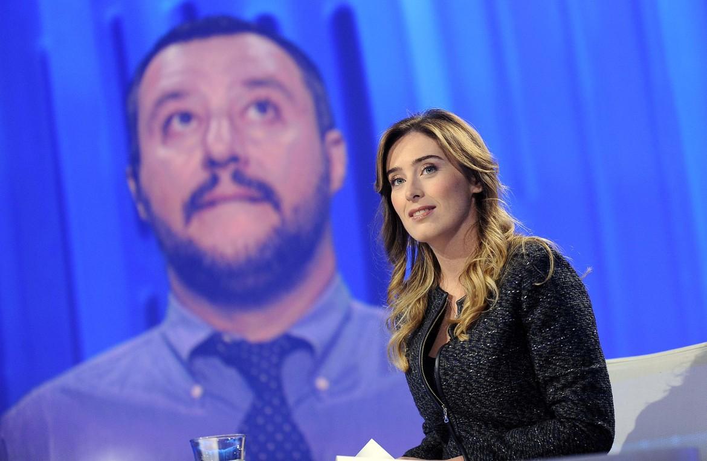 La ministra Boschi ieri a Otto e mezzo (in collegamento Salvini)
