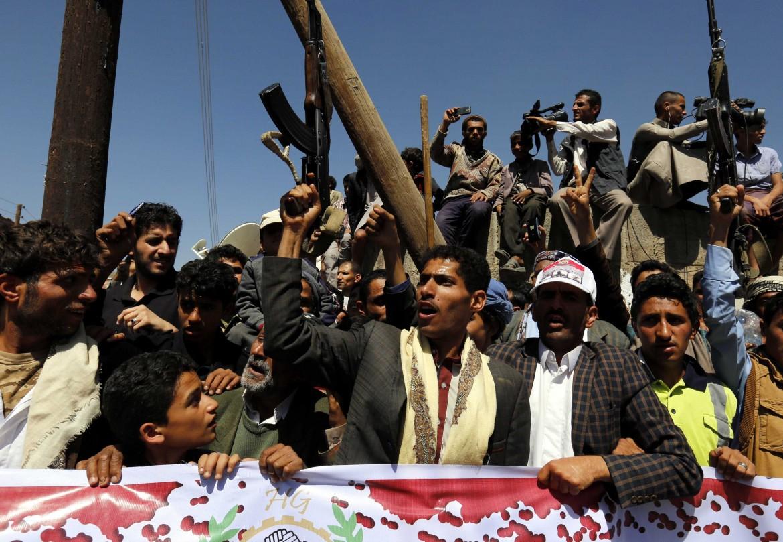 Protesta in Yemen contro l'intervento saudita