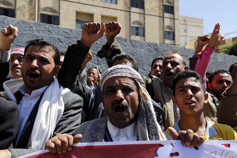 Protesta in Yemen contro l'intervento militre saudita
