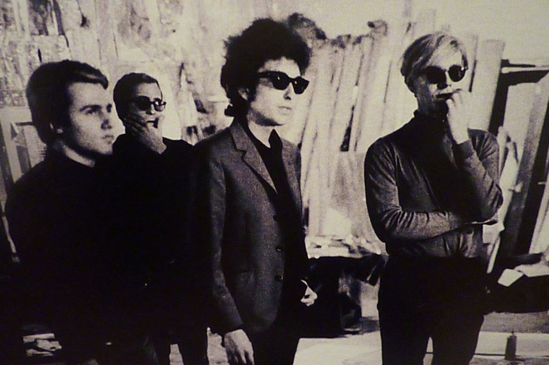 Bob Dylan con Andy Warhol