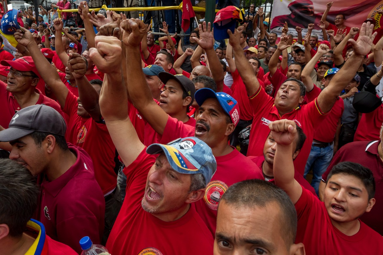 Venezuela, manifestazione chavista